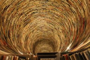 Il tunnel del libro di Matej Kren. Biblioteca di Praga