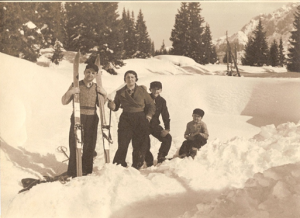 Guido, Emma, Alberto e Paolo (Madonna di Campiglio, 1938)