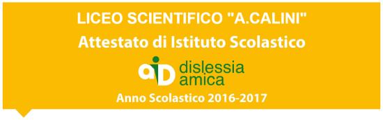"""Attestazione """"Scuola Dislessia Amica"""""""